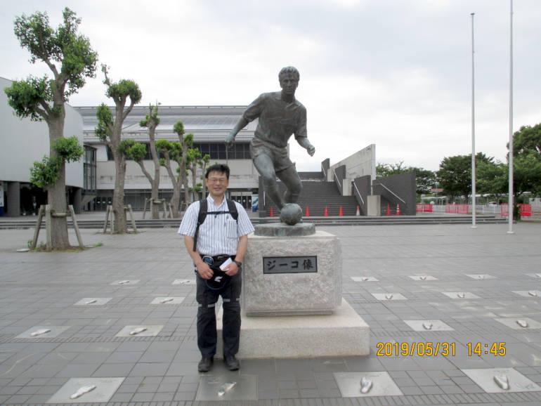 ⑩茨城県立カシマサッカースタジアムにゴール(午後約5.6Km)