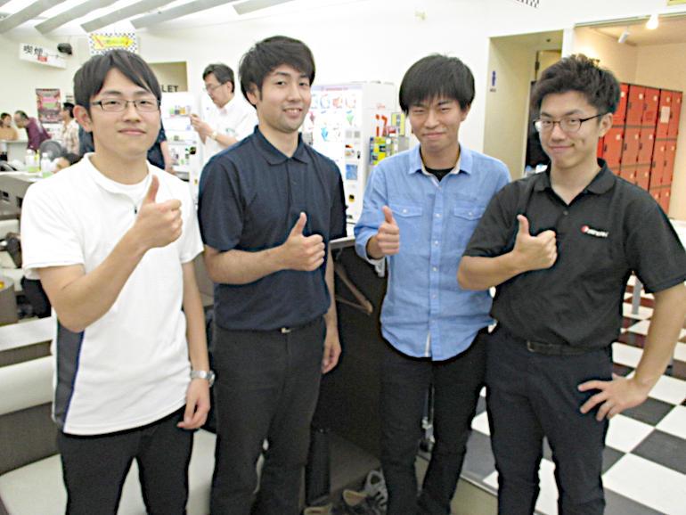 ④Bチーム(左から)長島君、館下君、後藤君、須山主任